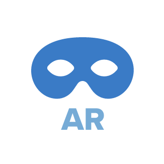 AIIR uses AR masking technology. AIIR can allow the camera to see the user while hiding their face from others with AR masking.